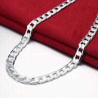 """Wholesale 925 Sterling Silver Filled 10MM Classic Solid Curb Chain Necklace 20"""""""