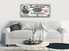 """Large Poster $1000 US Treasury Note, General Meade16""""x 40"""" Printed on Canvas"""