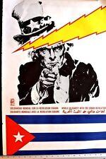 CUBA SOLIDARITY - OSPAAAL 1980 Poster by VICTOR  NAVARRETE - ORIGINAL SCARCE