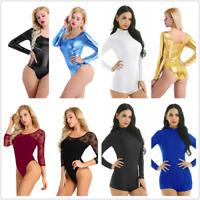 Sexy Women One-piece Dance Dress Monokini Bodysuit Leotard Jumpsuit Dancewear