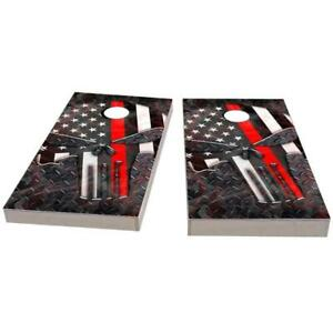 Skull USA Red Line Cornhole Boards - The Perfect Christmas Gift