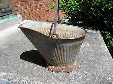 Vintage Galvanized Coal  Bucket  for Planter
