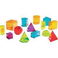 Learning Resources View-Thru Geometric Solids 14Pcs MI LER4331
