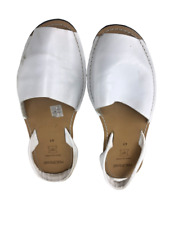 Menorquina Womens Sandals Leather Slippers Shoes Open Toe Size 41