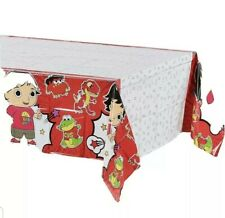 """Ryan's World DesignWare Red Decorative Tablecover 54"""" x 96"""" Birthday Party New"""