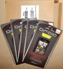 18 Verizon Htc Droid Eris Display Protectors*Cell Phone Screen Wipes*Smooth Card