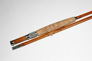 Unmarked bamboo fly rod w/ wood reel seat insert VG+ NR