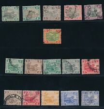 Malaya - Federated Malay States (1901-22); (16) MOSTLY USED/SOME MH; CVE $32
