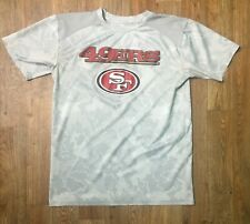 SF 49'ers NFL Team Youth SS Athletic Shirt w Gray Cube Print! Size L 14/16