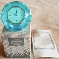 "Vintage 1992 Avon ""BIRTHSTONE CLOCK - DECEMBER"" Facets of Time Clock - NEW!"