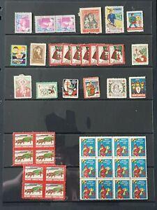 US. USA Selection of Christmas Seals, Good Condition