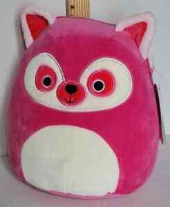 "Squishmallow 8"" Lucia the Lemur Hot Pink Plush BNWT Free Quick Ship"