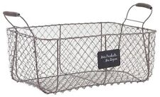 Wire Storage Basket Crate Vintage French Farmhouse Vegetable Storage Hamper