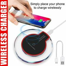 Wireless Charging Pad Qi Charger For Samsung S10 S9 S8 iPhone XR 11 Pro XS Max 8