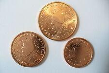 MONNAIES  PAYS BAS - 1c , 2 c , 5 c / 2005    NEUVE !! (achat par trio) !