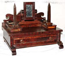 "Miniature dresser, jewelry chest, c1848, Empire, mahogany, burl, child,doll, 13"""