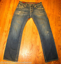 ROCK REVIVAL JEANS for Men SIZE 33 X 33 PAUL STRAIGHT STYLE: RRJ8619