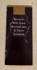 Vintage MasterCard Brochure 10 Reasons Why Gold Master Card is Superior