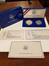 1986 UNITED STATES LIBERTY PROOF SILVER AND HALF-DOLLAR 2 COIN PROOF SET C019