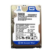 """Western Digital Scorpio Blue 500GB 5400RPM SATA 2.5"""" (WD5000BEVT) HDD Hard Drive"""