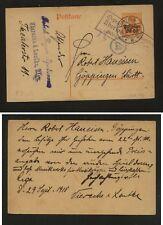 Lithuania , German occupation,   nice postal  card  1918              KL0917