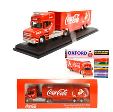 Oxford 76TCAB004CC Scania T Cab Box Trailer Coca Cola Christmas Truck 1:76 Scale