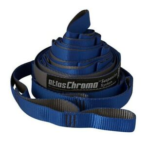 Fathers Day Gift Atlas Chroma ENO Camp Hammock Tree Straps 400LB Blue Charcoal