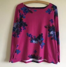 Joules Harbour Print Top, Pink, Blue, Floral - Size 16