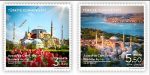 TURKEY/2020 - Hagia Sophia Mosque (Architecture, Flower, Tulip), MNH