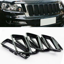 Dossy 7X Fit For 14-16 Jeep Grand Cherokee Black Grill Grille Inserts Ring Kit