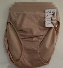 Jockey NWT 3 pr Beige Women's Panties Seamfree Breathe French Cut #1684 Size 8