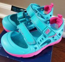 Stride Rite Girls M2P Phibian Sandal Turquoise Sandal Toddler Size 11M  NEW