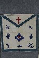 antique Masonic apron handmade Victorian Royal Black Knights Rose Croix  1800