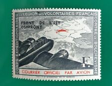 FRANCE LVF 1942 Légion de volontaires Airmail Légèrement Monté Comme neuf Maury 4