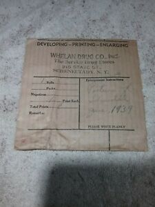 1939 WHELAN DRUG COMPANY INCORPORATED SCHENECTADY NEW YORK PHOTO NEGATIVES