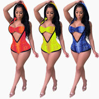 Women Bandeau Hooded 2 Piece Bodycon Bikini Swimwear Jumpsuit Clubwear Beach Set