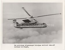 Fairey Rotodyne Helicopter Prototype Vertical Take-Off Airliner Photo, AX644
