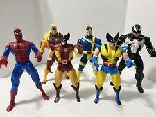 Lot Of 6 Vintage 90s Marvel Toy Biz 10 Inch Figures Spiderman Wolverine Venom