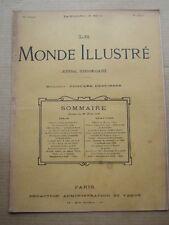 LE MONDE ILLUSTRE 26 AOUT 1899 N° 2213 JOURNAL HEBDOMADAIRE. Dir E. DESFOSSES