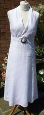 WHITE LINEN SLEEVELESS DRESS PER UNA SIZE 10L