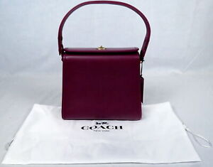 NWT COACH 137 Originals Turn Lock Shoulder Bag Handbag Purse Amethyst Purple Tag