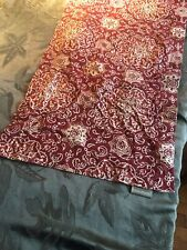 """POTTERY BARN RED PRINT TABLE RUNNER! 15""""x90""""! 100% COTTON! Stunning"""