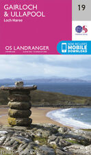 GAIRLOCH & ULLAPOOL LANDRANGER MAP 19 - Ordnance Survey -OS- NEW 2016 + DOWNLOAD