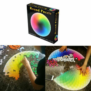 1000 PCS Jigsaw Puzzle Rainbow Round Educational Puzzle Kids Adult Difficult AAA