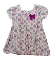 Baby Girls George White Pink Tree Short Sleeve Lined Dress Set Age 18-24 Months