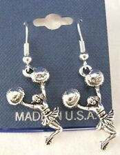 Large Cheering w/Poms Cheerleader Earrings French Hooks - Free shipping