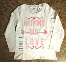 Nwt Girl's Old Navy Long Sleeve Nothing But Love Cross Stitch Size Xs 5