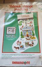 Dimensions Wysocki Christmas Stocking Kit Cross Stitch 8402 Yuletide Village