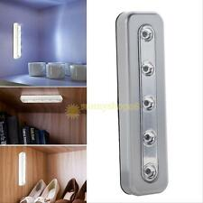 5LED Touch Night Light Home Kitchen Under Cabinet Closet Push Tap Stick On Lamp