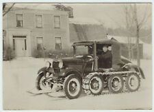 UNUSUAL Orig Photo - Car / Truck with Skis & Tracks c 1920s - in Snow Upstate NY